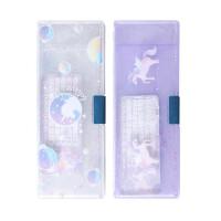 晨光独角兽双面笔盒 902B8文具盒 笔类收纳盒 铅笔盒 1个图案随机