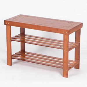 凳子 现代简约楠竹储物凳子简易收纳多层鞋架竹穿换鞋凳鞋柜收纳凳子椅子满额减限时抢礼品卡创意家具