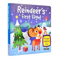 Reindeer's First Flight 圣诞指偶书 纸板手偶玩具书 原版英文