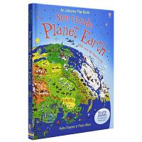 【首页抢券300-100】Usborne See Inside Planet Earth 看里面地球 科普百科知识 儿童