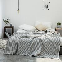 蜂巢华夫格纯棉沙发午睡单人双人毛毯被子盖毯毛巾被休闲毯四季通用
