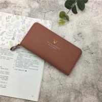 2018新款日韩版简约女士钱包女长款小清新时尚大容量手包零钱包潮