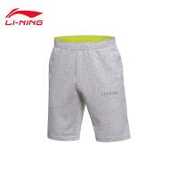 李宁短裤短卫裤男士训练系列男装针织运动裤AKSJ101
