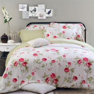 多喜爱家纺双面贡缎床上用品天丝四件套件花影香芬