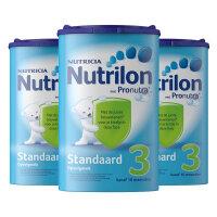 荷兰Nutrilon牛栏奶粉3段(10-12个月宝宝) 800g三罐装