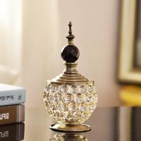 欧式玻璃储物罐家居饰品摆件创意装饰金属客厅餐桌糖果收纳搭抖音同款
