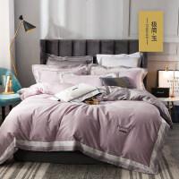60支贡缎长绒棉四件套北欧风床单被套床笠床上用品全棉纯棉4件套