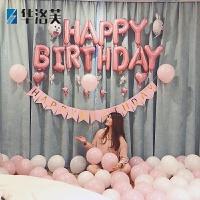 生日气球装饰宝宝满月百日宴布置套餐生日派对用品会气球装饰 周岁生日布置J 套装