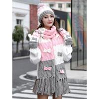 帽子围巾手套三件套女冬季学生韩版潮可爱秋冬加厚毛线帽围脖保暖