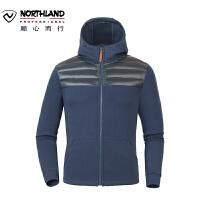 【顺心而行】诺诗兰秋冬户外男士抓绒衣防风保暖休闲时尚拼接外套GL065607