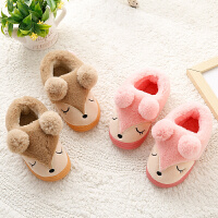 男女宝宝棉鞋1-3岁冬季加绒小儿童包跟家居家用