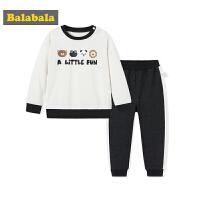 巴拉巴拉童装男童套装小童宝宝儿童两件套秋装2017新款上衣裤子潮