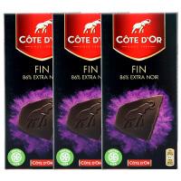 Cote D'or克特多金象 比利时进口 进口巧克力 86%可可黑巧100g*3