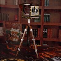 复古创意铁艺怀旧落地三脚架照相机模型工艺品摆件装饰品摄影道具SN1460