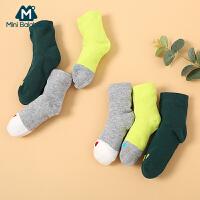 【1件5折】【3双装】迷你巴拉巴拉宝宝袜子男女童短袜秋冬新款儿童潮童袜