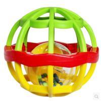 美贝乐宝宝益智软胶手抓球玩具抓握能力锻炼叮当球摇铃玩具