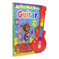 My First Music Book Guitar 我的吉他音乐书 幼儿纸板发声书玩具书 艺术启蒙 英文原版进口图书