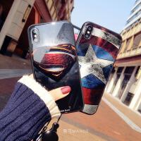 玻璃壳挂绳XS手机壳苹果8硅胶全包7plus潮牌iphone6s新款情侣男女 6/6s 4.7寸 玻璃S