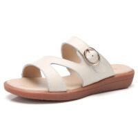 凉拖鞋女2019夏季新款平底外穿室外软底平跟孕妇妈妈拖鞋
