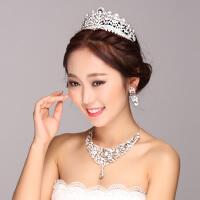 新娘项链头饰套装婚纱配饰发饰皇冠结婚首饰三件套