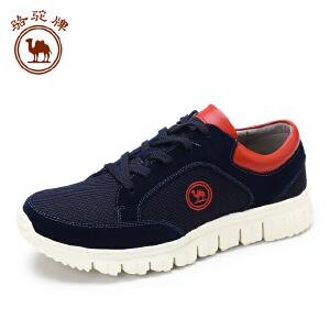 骆驼牌休闲运动跑鞋 舒适耐磨时尚网布鞋低帮系带