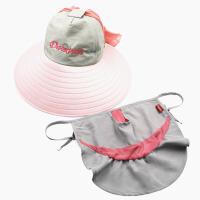 女夏天遮阳帽防晒折叠大沿骑车遮脸太阳帽出游沙滩帽