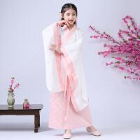 儿童汉服国学服童装女秋装中国风儿童古装汉服改良曲裾古筝演出服