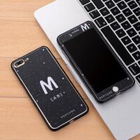 iphone7plus全屏钢化膜苹果7P卡通8+前后玻璃膜5.5送金属边框
