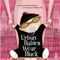 英文原版 黑衣城市酷宝宝 纸板书 Urban Babies Wear Black