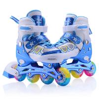 儿童初学者溜冰鞋全套男女初学者直排轮可调节