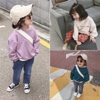 秋季儿童宽松舒适套头卫衣 休闲运动上衣潮