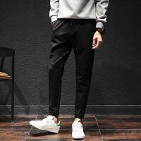 秋冬长裤男士运动韩版运动裤裤子小脚青年小脚裤常规休闲裤