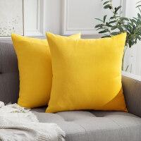 生活心选 北欧纯色抱枕沙发靠背垫床头靠垫椅子靠枕抱枕套不含芯 60x60cm抱枕套+枕芯 (芯比套大5cm)