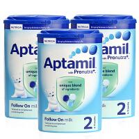 英国直邮 英国Aptamil爱他美婴儿奶粉2段(6-12个月宝宝)900g【3罐组合】