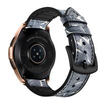 真皮硅胶运动表带 三星galaxy watch42/46mm手表sport4/s3/2