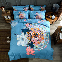 20191108195013403纯棉四件套 加厚全棉磨毛婚庆4件套床品床单被套床上用品 2.0*230(2.5公斤)