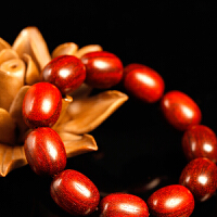 小叶紫檀深色浅色椭圆手链(双色可选) 木手链