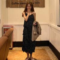 很仙的法国小众连衣裙女夏季2019新款韩版宽松波点无袖吊带裙长裙
