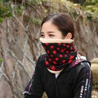 冬季羊绒围脖男女士套头脖套帽子多功能户外骑行防寒保暖围巾