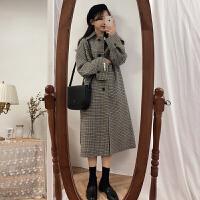 毛呢外套秋冬新款韩版宽松中长款小清新呢子大衣女小个子学生