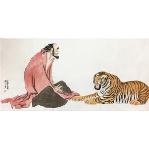 姚桂元《老虎图》著名画家