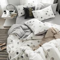 北欧风床上四件套棉纯棉简约小清新床单被套儿童学生寝室三件套