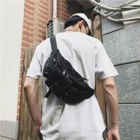 战术胸包男士斜挎包复古运动腰包多功能干活工地工具包单肩小挎包