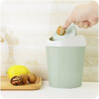 客厅小号桌面摇盖垃圾桶家用卫生间小纸篓翻盖垃圾筒
