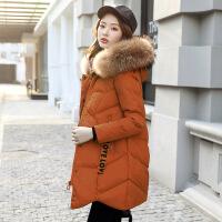 棉衣女中长款韩版2018新款女装修身羽绒冬季大毛领外套女棉袄