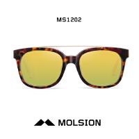 陌森男女士墨镜开车偏光镜明星2015款 镜面方框铆钉太阳镜MS1202