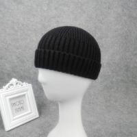 针织短款瓜皮帽男黑色春秋季运动帽薄欧美瓜皮帽子女包头帽 黑色 薄款卷边17厘米 可调节