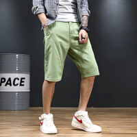 verhouse 大码男装短裤夏季新款时尚宽松直筒五分裤百搭薄款青年休闲裤子