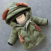 男童冬装棉衣外套儿童宝宝卡通棉袄