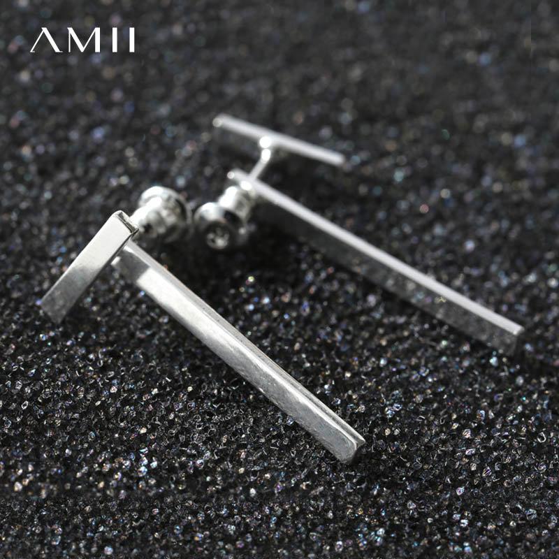 【券后预估价:54元】Amii[极简主义]夏装新款时尚简约条形金属气质耳环11743692 Amii极简不动生色的美